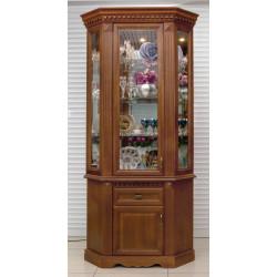 Шкаф с витриной угловой Афина И010.28