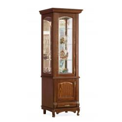 Шкаф с витриной 1-дверный Оскар И007.20 с витражом
