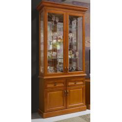 Шкаф с витриной 2-дверный Олимпия Высокий И005.26