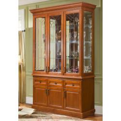 Шкаф с витриной 3-дверный Олимпия Высокий И005.27