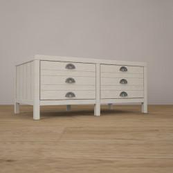 Журнальный стол (тумба) MagTbl в белом цвете