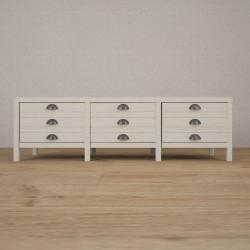 Журнальный стол (тумба) 3 секции MagTbl3 в белом цвете