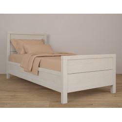 Кровать с высоким изножьем (90х200) HighBed90 в белом цвете