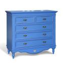 Комод Капри в эмали синего цвета