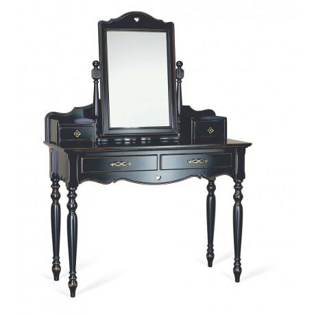 Туалетный столик с зеркалом (консоль в сборе с зеркалом) Капри в эмали