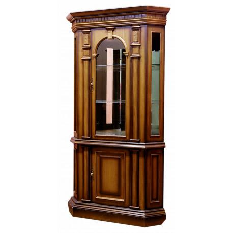 Шкаф витрина ВЕРОНА 9М угловой