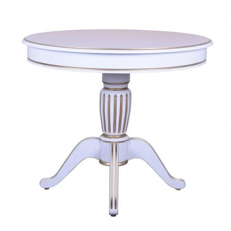 Стол раздвижной Аркос-16 в белом цвете с патиной