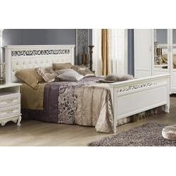 Кровать Венеция 1600*2000 И008.16М с мягким изголовьем в эмали