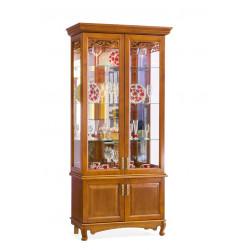 Шкаф с витриной 2-дверный Венеция И008.21