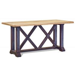 Стол обеденный Винтаж 160 (черный, столешница - старый дуб)