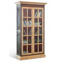 Шкаф-витрина со стеклом Винтаж (черный плюс старый дуб)