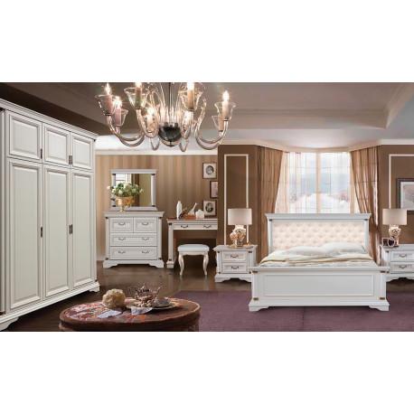 Спальня Омега с роскошной кроватью и 3-дверным шкафом