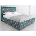 Кровать с подъемным механизмом K02 (120 на 200) в ткани с принтом