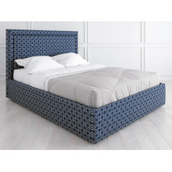 Кровать с подъемным механизмом K02 (180 на 200) в ткани с принтом