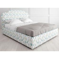 Кровать с подъемным механизмом K03 (160 на 200) в ткани с принтом