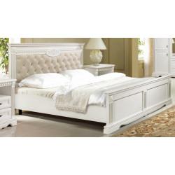 Кровать Афина 1800*2000 И010.04 с мягким изголовьем и декором в эмали