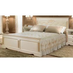 Кровать Афина 1600*2000 И010.03 с мягким изголовьем и декором в эмали