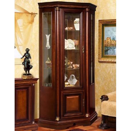 Угловой шкаф витрина Омега 3-1Д