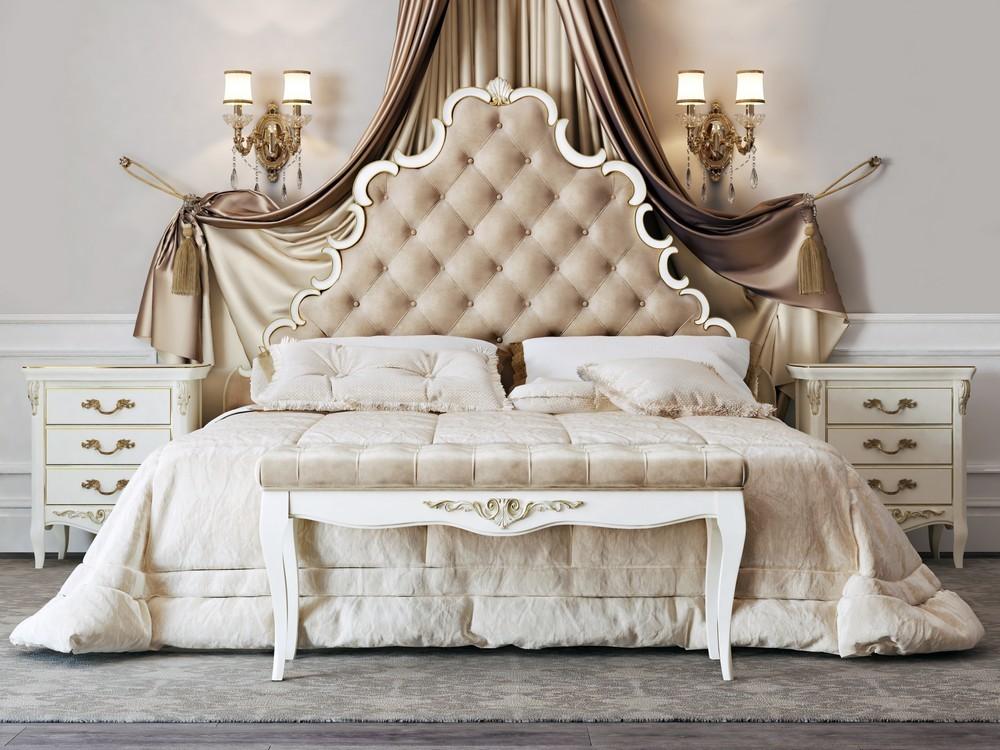акция на классические кровати с драпировкой